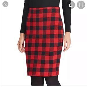 CHAPS NWT Buffalo Plaid Pencil Skirt XL
